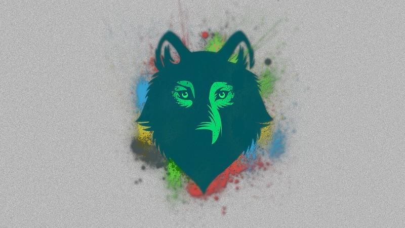 Обои волк, морда, рисунок, пятна картинки на рабочий стол, фото скачать бесплатно