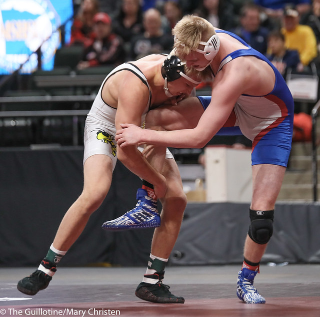 195AA 1st Place Match - Ty Moser (Perham) 46-0 won by decision over Grant Parrish (Kasson-Mantorville) 29-5 (Dec 5-1) - 190302BMC5046