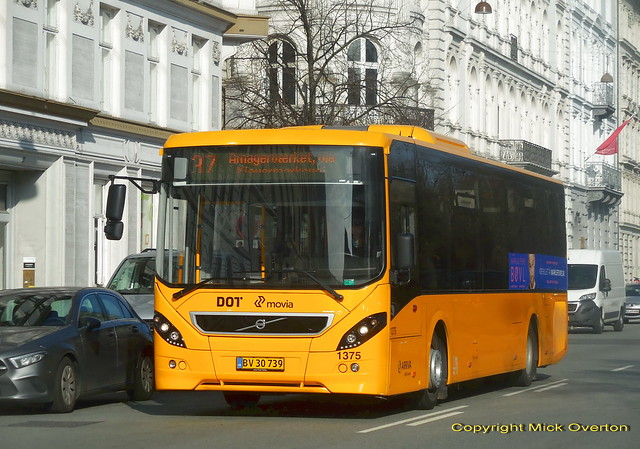 26 month old Volvo B8RLE ARRIVA 1375 on route 37 will leave Copenhagen for a new contract later this year