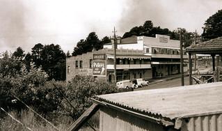 Bushfires approaching Leura, 1957