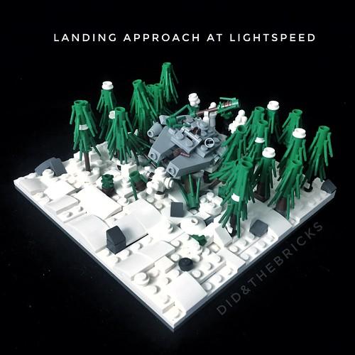 Landing approach at lightspeed