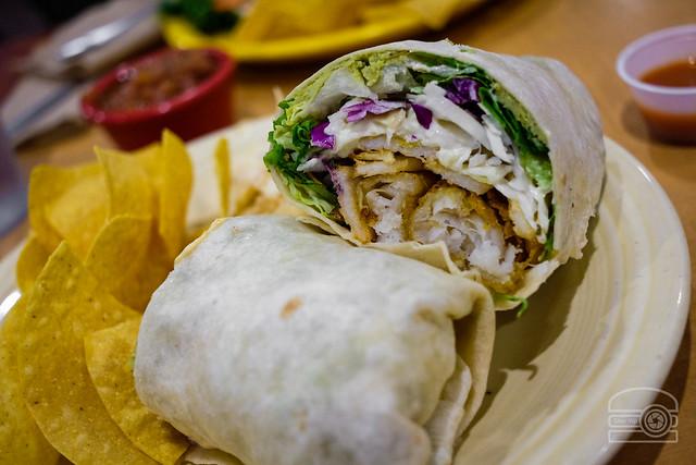 Fish Burrito w/ Salt n' Vinegar Fries, Tartar Sauce, and Cabbage - Black Bear Evansdale