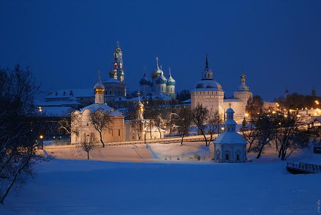 RUS70372 - Winter Time #10. Monastery. Morning