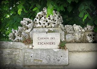 Chemin des Escaniers: A street marker, Mane, Provence