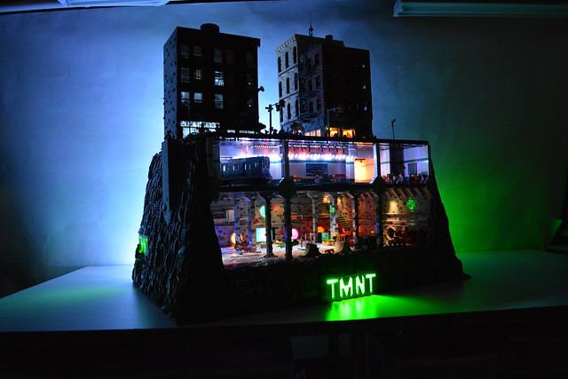 Teenage Mutant Ninja Turtles Sewer Lair-Subway-NYC