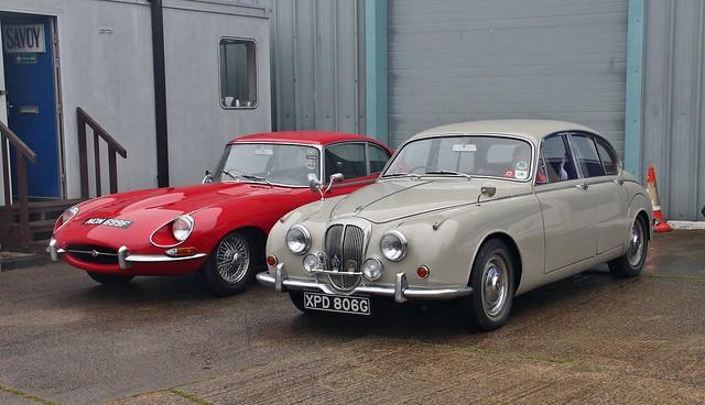 Jaguar & Daimler Cars visiting Ipswich Transport Museum, 7th. April 2019.