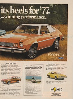 Advertisement Print Art Car Ad J816 1977 Ford Pinto Best Selling on Beach