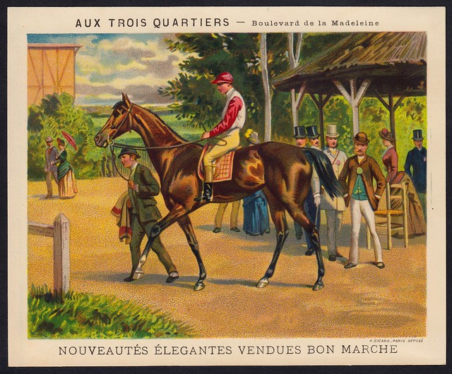 French Tradecard - At The Racecourse