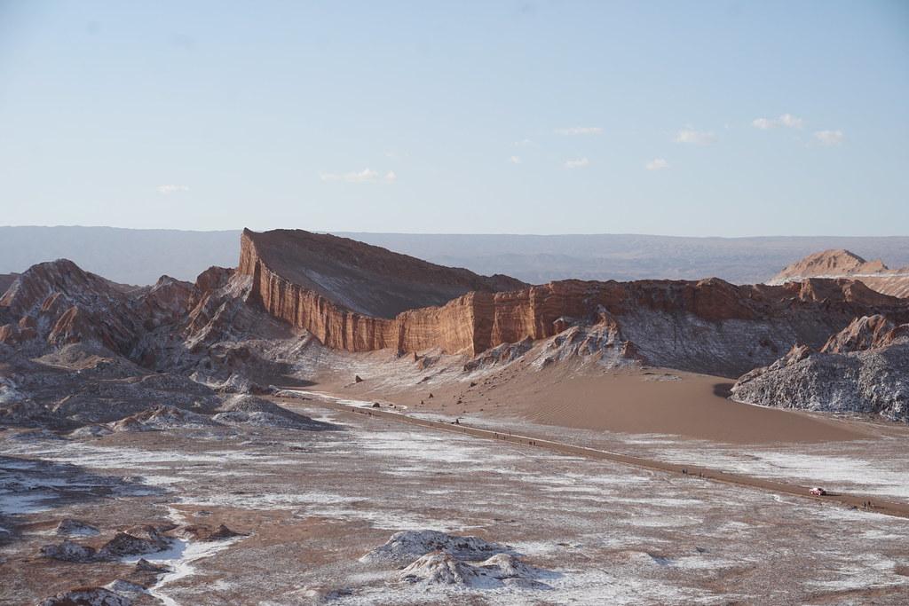 The Amphitheater, the Great Dune (Gran Duna) at 2,520 meters (8,267.71 ft) above sea level, the Valley of the Moon (Valle de la Luna), San Pedro de Atacama, the Atacama Desert, Chile.
