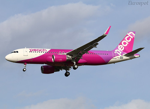 F-WWDR Airbus A320 Peach | by @Eurospot