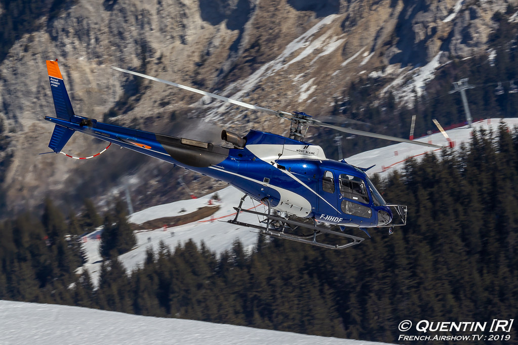 Eurocopter AS 350B3 F-HHDF Mont Blanc Hélicoptères Fly Courchevel Canon Sigma France French Airshow TV photography Airshow Meeting Aerien 2019