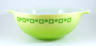 1971-1972 Pyrex Cinderella Bowl Green Dot-Squares | by owntwohands