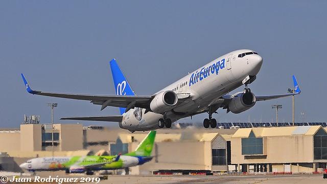 EC-MJU - Air Europa - Boeing 737-85P (WL) - PMI/LEPA