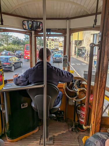 riding the historic Tram 28