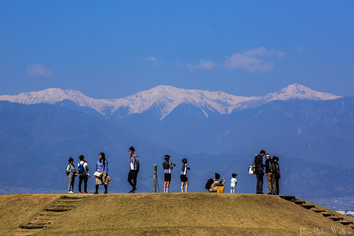 The hill viewing Shiramine three peaks
