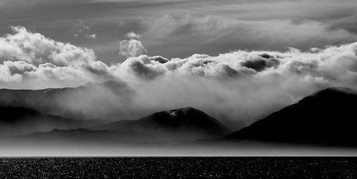 olympicmountains olympicpeninsula blackwhite monochrome dramatic contrast clouds nuage himmel sky seascape