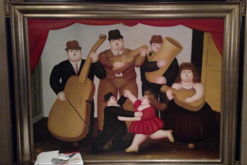 Painting of musicians