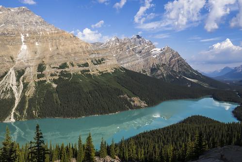 Peyto Lake seen from Bow Summit, Banff NP | by birgitmischewski