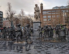 Rembrandt and his Watchmen in the Rembrandtplein