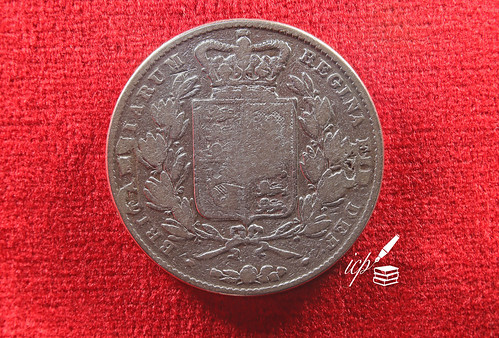 Reverse side of a 1844 Young Victoria Silver Crown Coin | by ioannis_papachristos