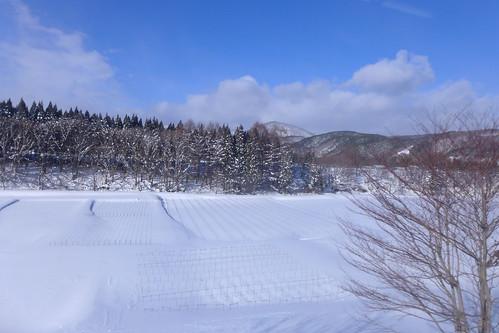 安比高原~赤坂田間では一転して下り坂に