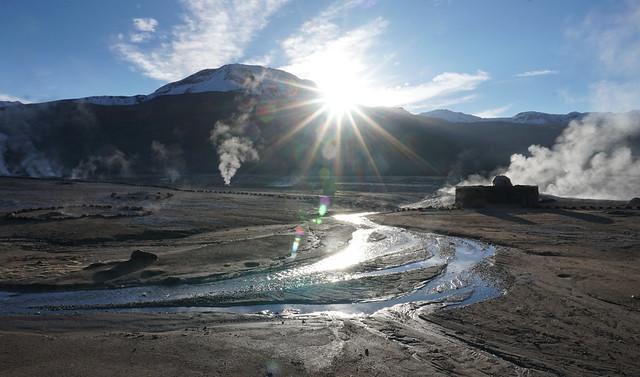 El Tatio Geothermal Field (Geysers) at 4,321 meters (14,176.51 ft) above sea level, Calama, Chile.