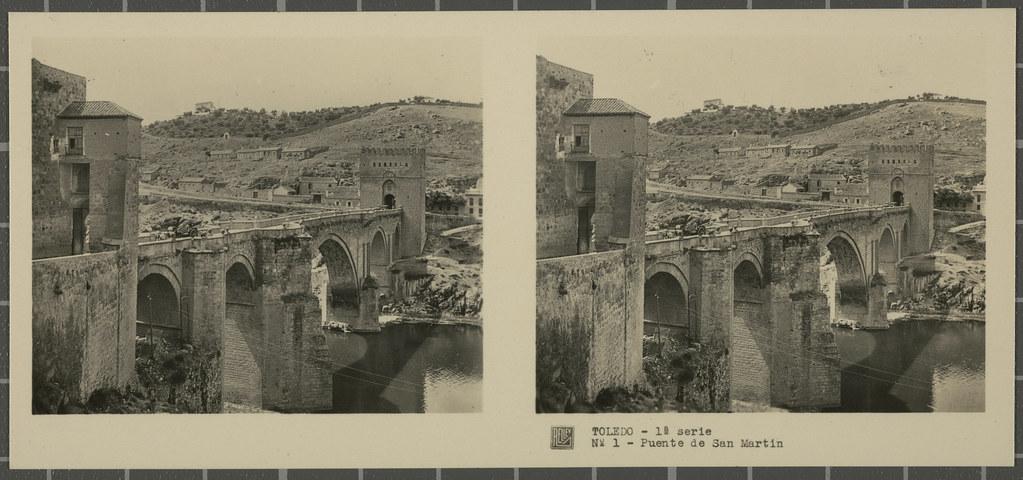 Puente de San Martín. Colección de fotografía estereoscópica Rellev © Ajuntament de Girona / Col·lecció Museu del Cinema - Tomàs Mallol