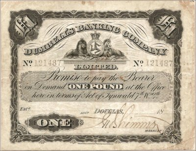 Dumbell's Banking Company One Pound banknote