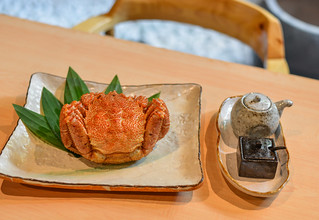 Fresh Japanese crab on wooden table | by phuong.sg@gmail.com