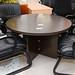 Wenge circular meeting table E100