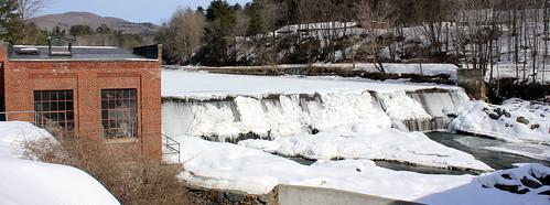 dam vermont barrage us usa taftsville vt unitedstates winter hiver neige snow