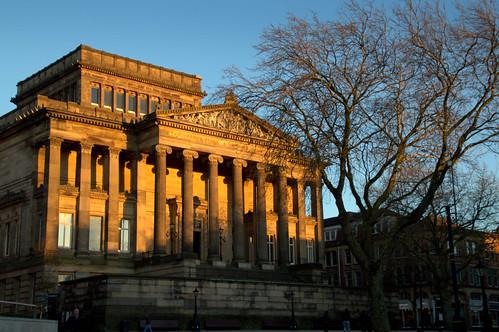 Light on Harris Museum, Preston   by Tony Worrall