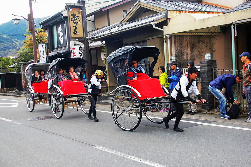 嵐山人力車 2