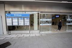 Entrada de la estación de Ermua