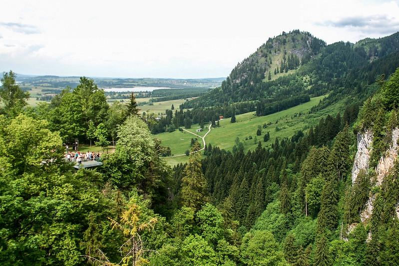 新天鵝堡俯瞰山下景觀