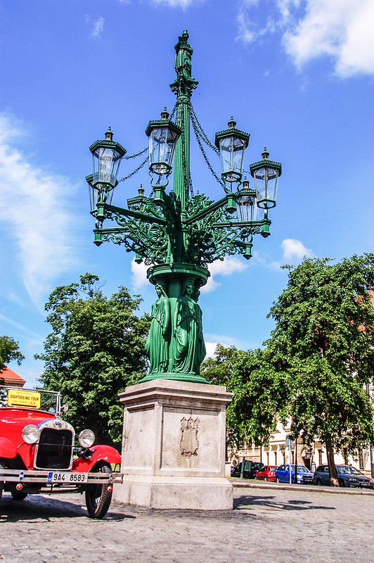 Gas street lamp, Prague