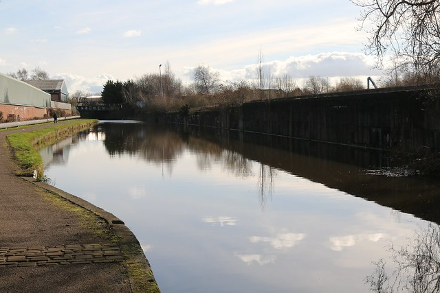11th February 2019. The Shropshire Union Canal at Ellesmere Port, Cheshire.