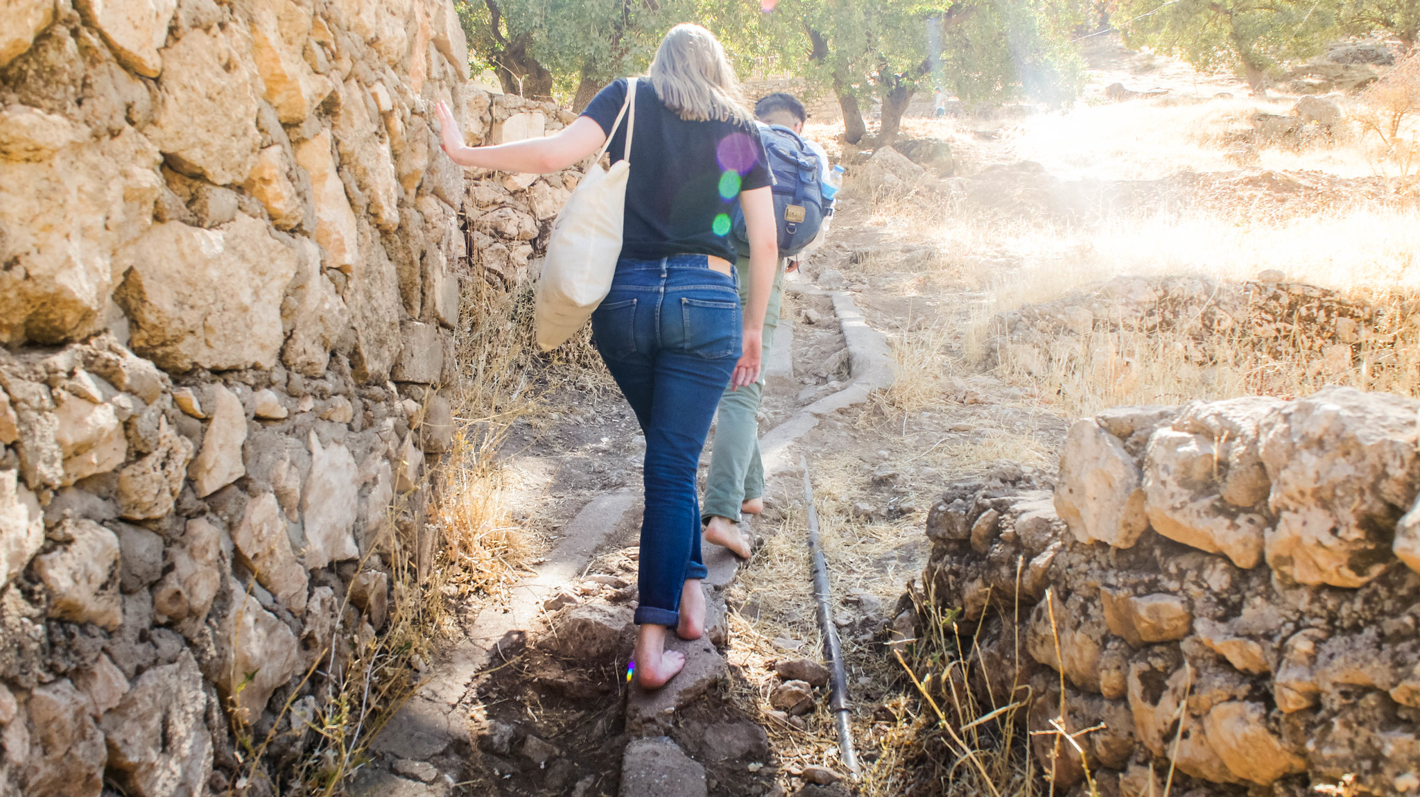 Climbing up the hill in Lalish