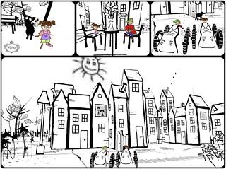 Drawn Town as Cardboard Kids
