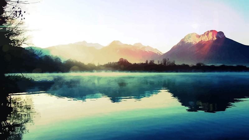 Обои природа, свет, озеро картинки на рабочий стол, фото скачать бесплатно