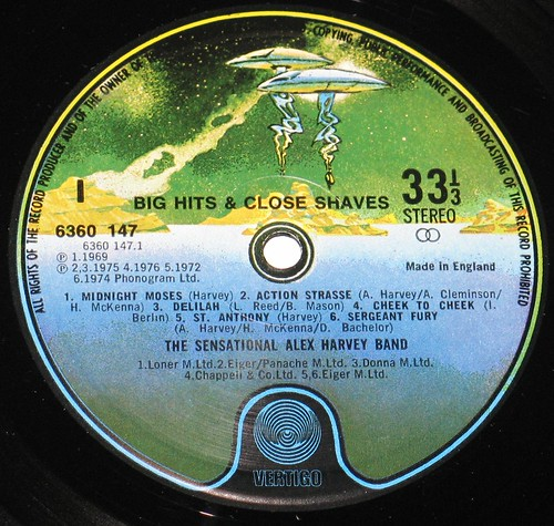 Alex Harvey - Big Hits & Close Shaves UK Pressing