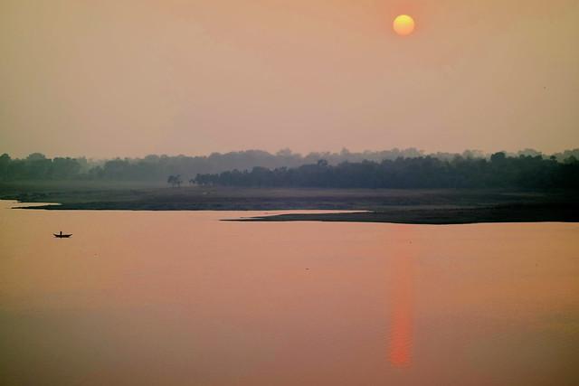 Panchet Dam at Sunset