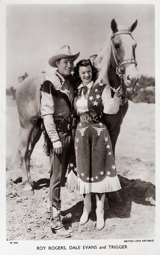 Roy Rogers, Dale Evans and Trigger