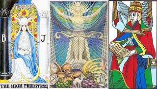 High Priestess Holding The Biblical Torah