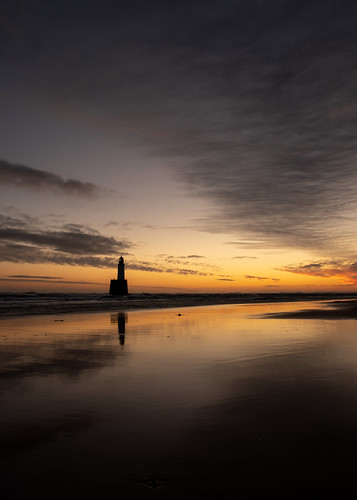 aberdeenshire rattrayhead lighthouse sunrise sunset water scotland sea sky sand red refection cloud canon canon5d eos
