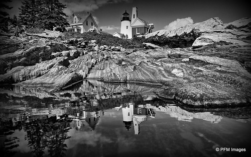 pemaquid point maine light lighthouse blackandwhite bw outdoor landscape coast coastal ocean rocky flickr canon eos 7d slr newengland water sky