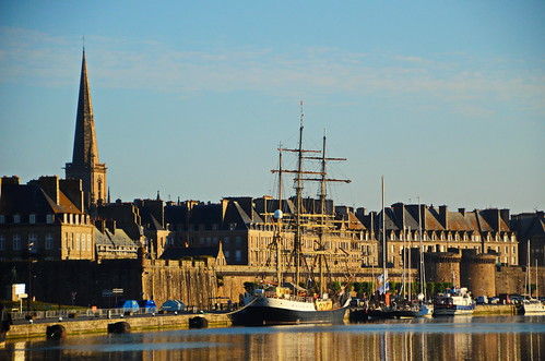 saintmalo gunilla sail sailingbarque harbour britany church