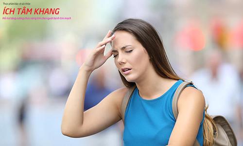 Trong quá trình sử dụng thuốc giãn mạch cần cảnh giác với tác dụng phụ gây chóng mặt