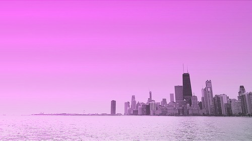I've been experimenting with #Hyperspektiv for iPhone on my bike rides into #Chicago's downtown. I don't have a strong grasp on its effects yet, but it is at least fun. #glitch #GlitchArt #GlitchPhotography   by David Chartier