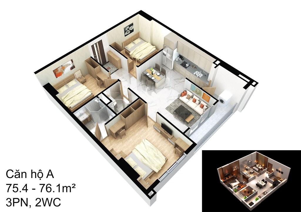 mẫu căn hộ A Raemian Đông Thuận I-Park